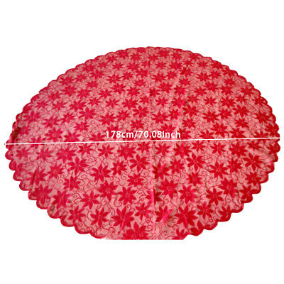 Vintage Lace Red Cotton Tablecloth Floral Table Cloth Cover Valentines Day Decor