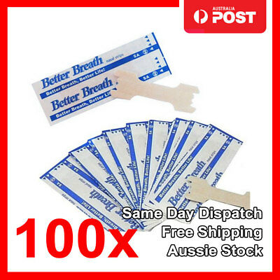 100x Large Nasal Strips Snoring Help Breathe Better Easy Anti Snore Nose Strip