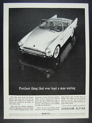 1962 Sunbeam Alpine roadster convertible vintage print Ad