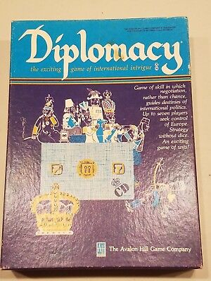 Vintage DIPLOMACY - Avalon Hill Board Game