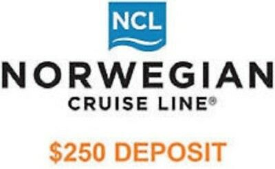$250 Ncl Norwegian Cruise Line Cruise Next Voucher; Expires 9/23/22