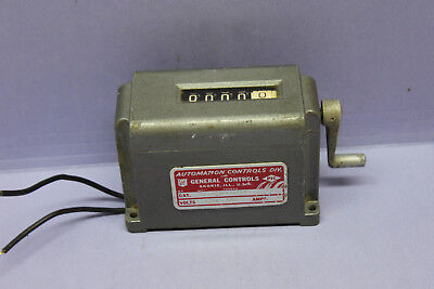 Vintage General Controls 5-Dig Electro-Mechanical Counter 120VAC, 1/12 Increment