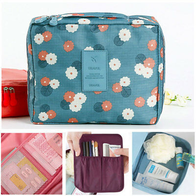 Portable Travel Makeup Toiletry Case Pouch Flower Organizer Cosmetic Bag Hot