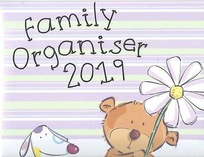 Family Organiser 2019 Up To 5 People Wall Calender  Month-View Space For Writing