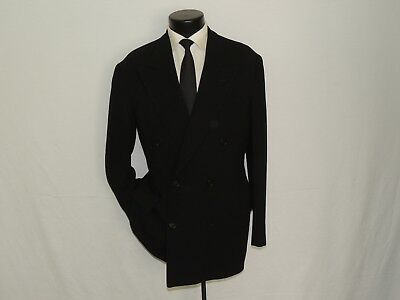 Double Breasted Black label Giorgio Armani men's jacket coat size 38 R