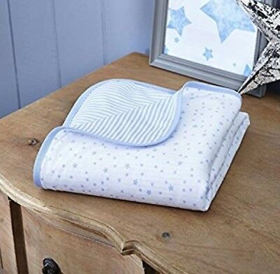 Clair De Lune Stars and Stripes Blue Pram Cot Crib Blanket, BNWT