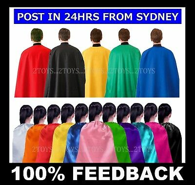 PLAIN CAPE ~ ADULT & TEEN & KIDS Sizes ~ 70 & 110 & 140cm Superhero Costume