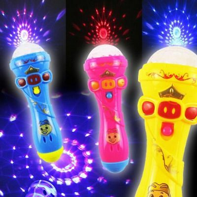 LED Projection Microphone Flash Microphone Light-emitting Baby Kid Toy  Beauty