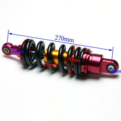 270mm Rear Shock Absorber 800lb PitBIKE ATV GO KART 70-125cc Taotao Coolster DHZ