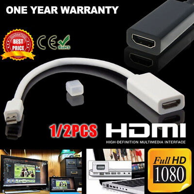 Mini Display Port DP to HDMI Cable Cord Adapter Converter for Macbook PC HDTV