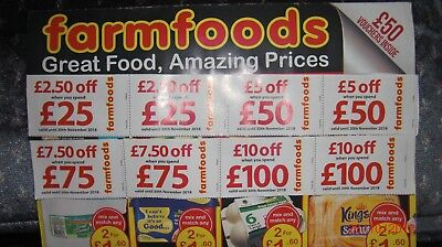 Farmfoods Coupons Vouchers 10% Discount.Worth £200.Valid until 30th NOVEMBER