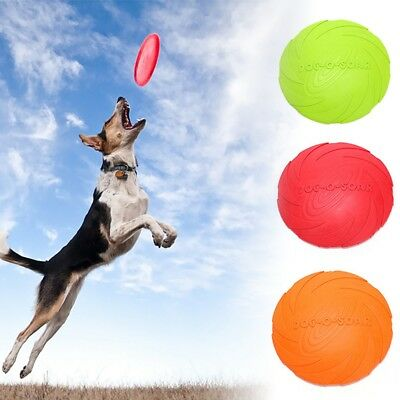 Pet Frisbee Dog Training Soft Throwing Flying Disc Frisby Fetch Silicone Toy HOT