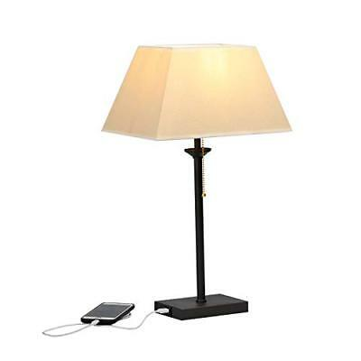 WAYKING Modern Table Lamp, Contemporary Bedside Lamp with USB Charging Port, ...