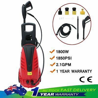 1800W 1850PSI High Pressure Washer Cleaner Petrol Water Gurney 3M Hose