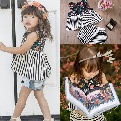 2pc Newborn Toddler Infant Baby Girl Clothes T-shirt Tops Dress+Pants Outfit Set