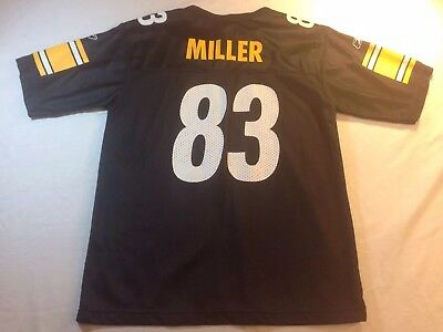 61d68a7a8 Pittsburgh Steelers Heath Miller  83 NFL Nike Football Jersey Youth Large  14-16