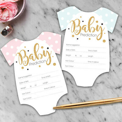 x15 Baby Shower Games - Prediction & Advice Cards Boy or Girl New Mum To Be  C3