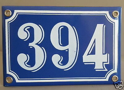 Vintage French Blue Enamel House Number Sign Porcelain Door Gate Plate 394