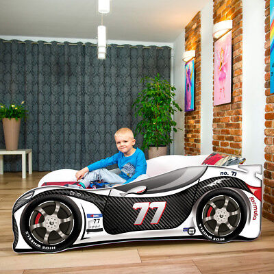Kids Child Bed BabyToddler Car Auto Bed New Mattress 140/160/180cm FAST DELIVERY