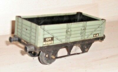 071118/05 Hornby O Gauge 13T 5 Plank Wagon Missing One Axle
