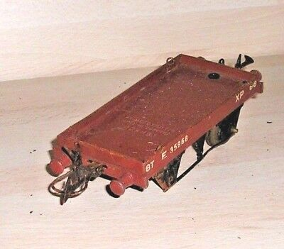 071118/06 Hornby O Gauge 1 Plank Wagon Missing One Axle