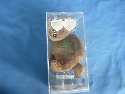 TY BEANIE BABIES  BILLIONAIRE Number 1 AUTHENTICATED Sealed  Plastic RARE BABY