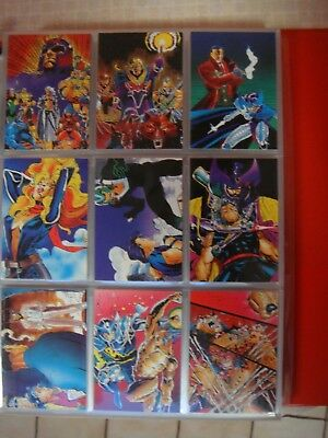 1991 X-Men trading cards complete full set 90 Comic Images w/ pages Jim Lee