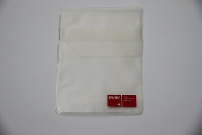 Swiss International Air Lines Vintage Small Clear Plastic Pouch Swissair New