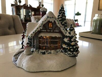 Thomas Kinkade Stillwater Cottage Lighted Village House Teleflora 2005 Rare - S