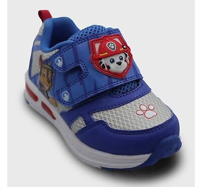 Toddler Boys' Paw Patrol Sneakers - Light Up Blue size 5,7,11,12