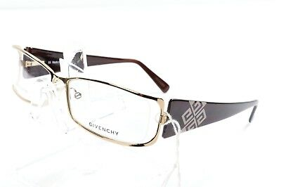NOS Givenchy Brown Gold Eyeglasses VGV235 0300 56/15/135 Italy Womens