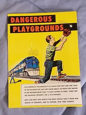 """1966 """"Dangerous Playgrounds"""" Train Comic Book Safety Assoc Of American Railroads"""