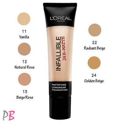L'Oreal Infallible 24h Matte Foundation 35ml - CHOOSE YOUR SHADE Loreal