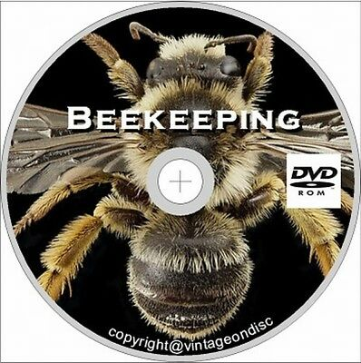 Beekeeping, 125 Vintage books on DVD, Honey, Bee, Hives, Beeswax