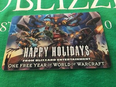 ONE 1 YEAR prepaid World of WarCraft Gift Card Blizzard Employee - RARE!!!  2011