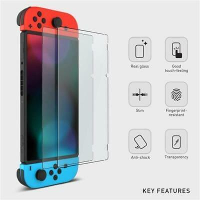 Clear 9H Tempered Glass Protective Screen Protector for Nintendo Switch 2PCS