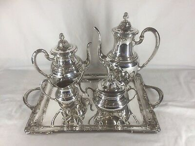Antique French Silver Plated Coffee And Tea Service (ref F107a)