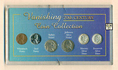 USA Vanishing 20th Century Coin Collection Set of 6 Coins (OOAK)