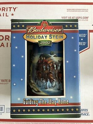 2002 Budweiser Holiday Stein Guiding The Way Home CS529