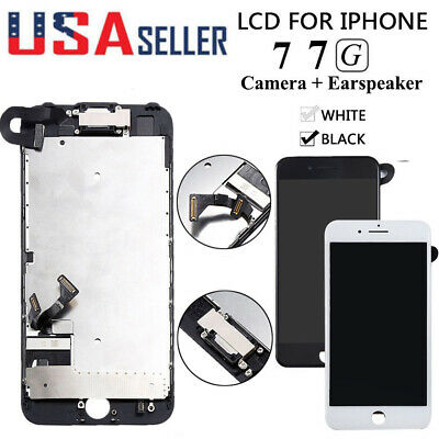 For iPhone 7 A1660 A1778 LCD Touch Screen Replacement With Camera & Earspeaker