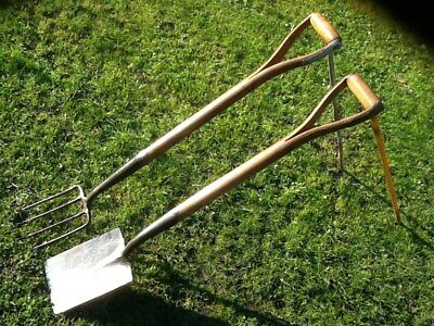 Ladies Garden Border Fork /& Spade SET Green Handle