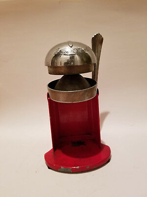 Rival Juice-O-Mat Mfg Co Single Action Vintage Art Deco 462-C Orange Juicer Red