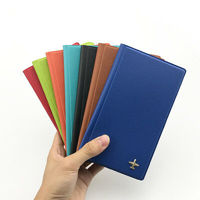 RFID Travel Wallet Passport Cover Holder Ticket Organiser Protector Leather Case