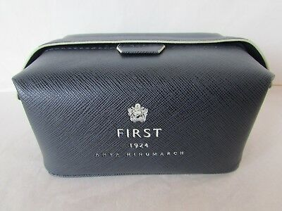 Anya Hindmarch Navy Blue First 1924 Cosmetic Toiletry Bag First 1924