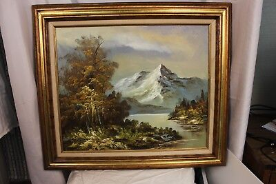 """G. Whitman Original Oil Painting Framed size 32""""W x 28""""H Signed by Artist"""
