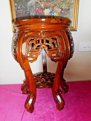 Lovely lacquered wood carved pedestal