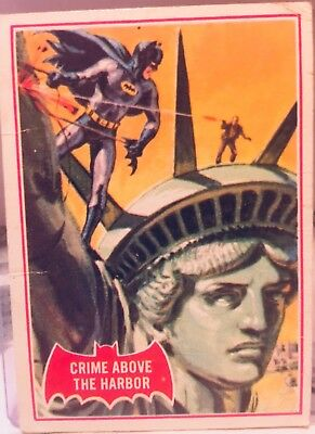 """Topps Vintage 1966, Batman Trading card, # 35-A """" Crime Above The Harbor"""