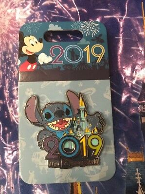 Walt Disney World 2019 Stitch & Castle 3-D Pin New OE Pin