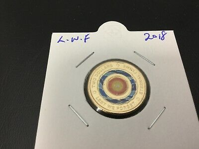 2018  $2 lest we forget Eternal Flame coin