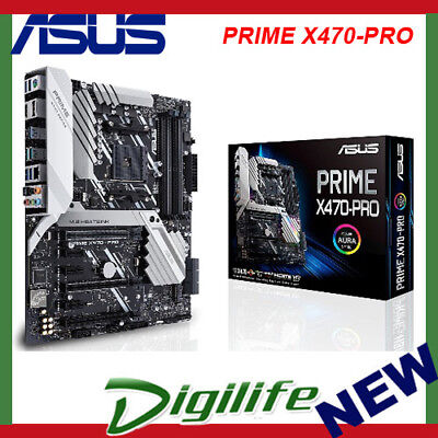 Asus PRIME X470 PRO AMD AM4 ATX Gaming Motherboard DDR4 3600Mhz M.2 HDMI USB 3.1